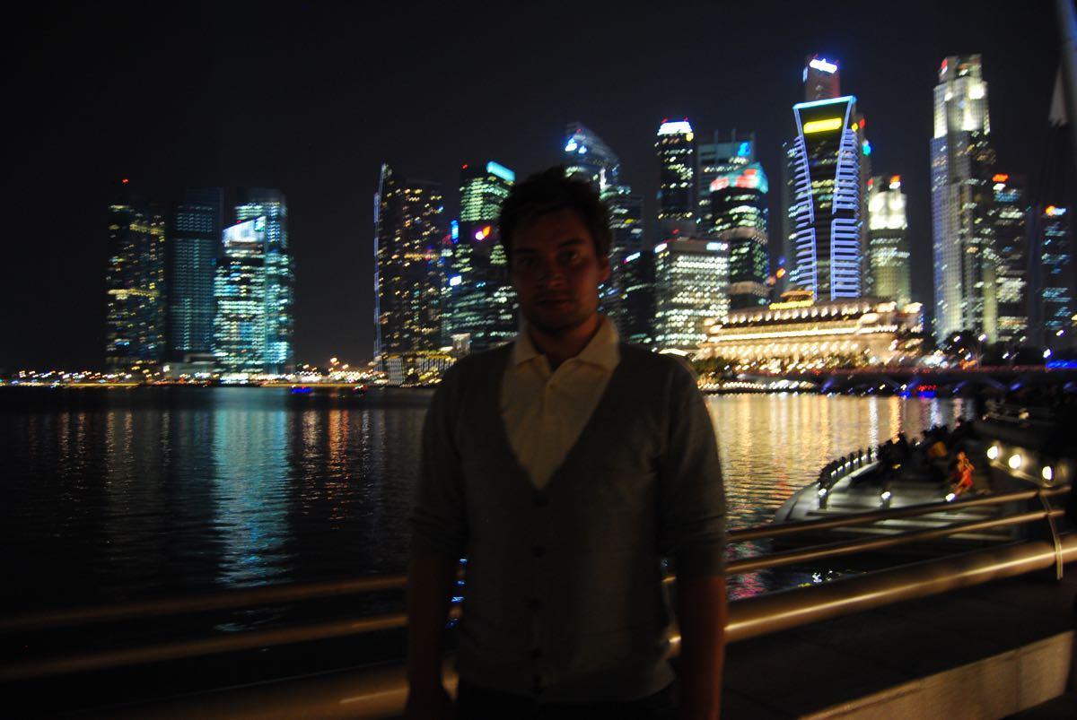 Marina by night Singapore