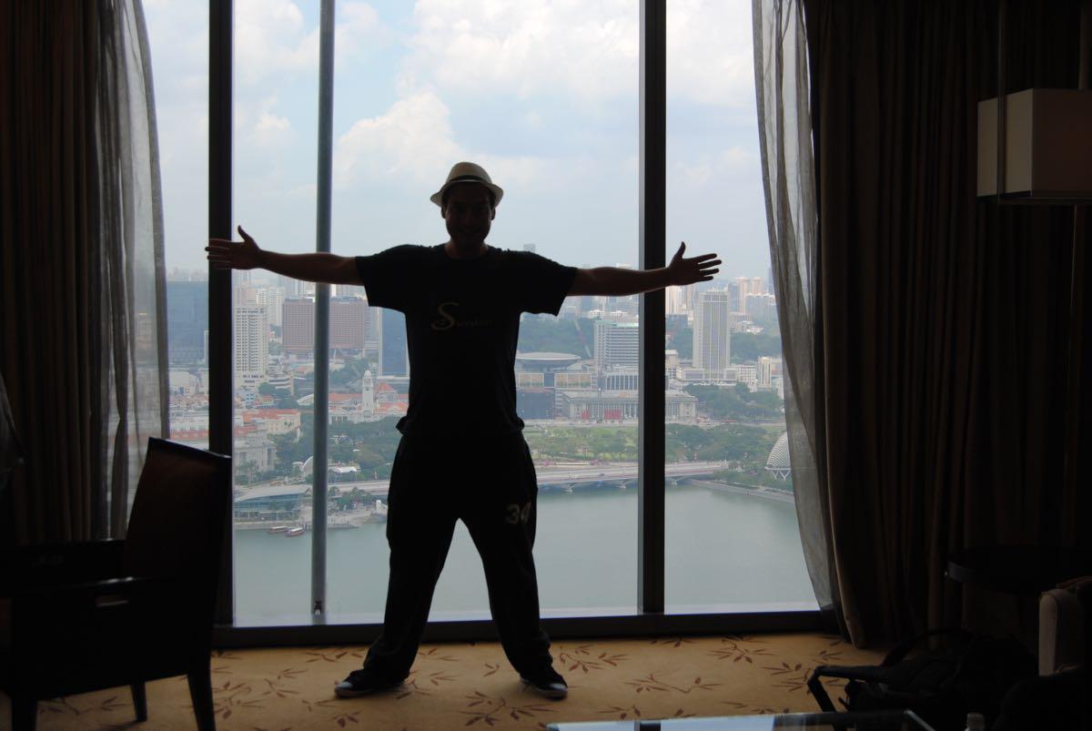 Marina Bay Sands deluxe room view