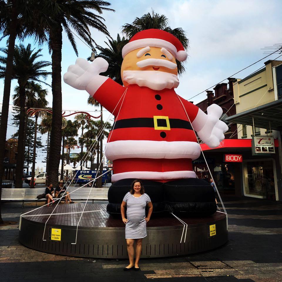 inflatable santa The Corso