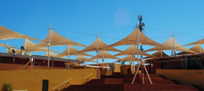 Unexpected visit: Sails in The Desert.