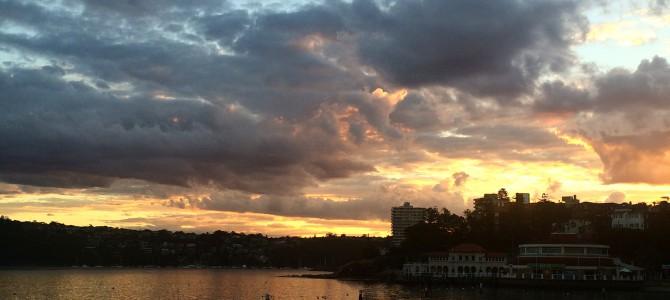 Feeling wiser & Manly sunset.